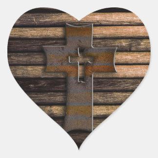 Wooden Cross Stickers