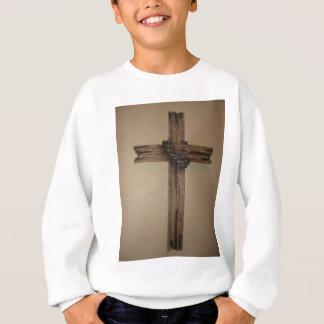 Wooden cross sweatshirt