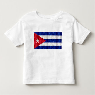 Wooden Cuban Flag Toddler T-shirt