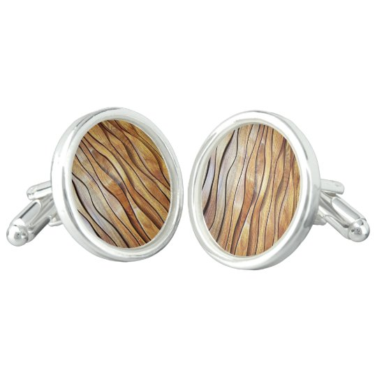 wooden design Cufflinks