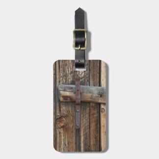 Wooden door close-up, California Bag Tag