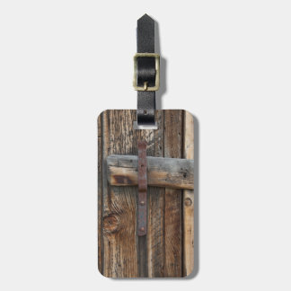 Wooden door close-up, California Luggage Tag