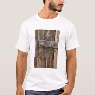Wooden door close-up, California T-Shirt