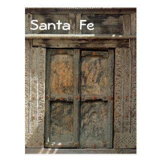 Wooden door postcard