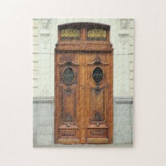 Wooden Doors in Madrid, Spain Puzzle