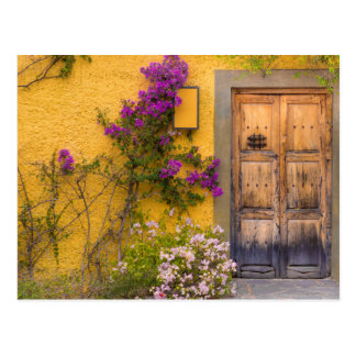 Wooden doorway postcard