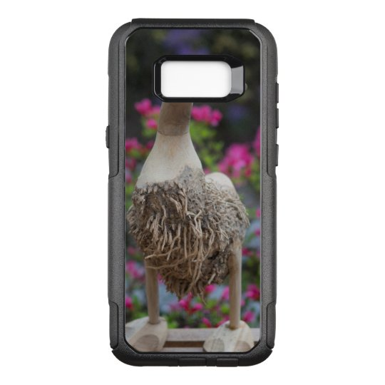 Wooden duck with flowers OtterBox commuter samsung galaxy s8+ case