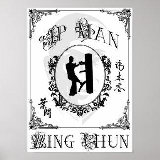 Wooden Dummy Form - Ip Man Wing Chun Print