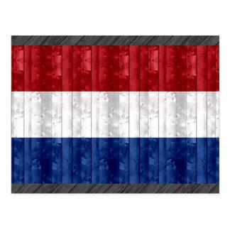 Wooden Dutch Flag Postcard