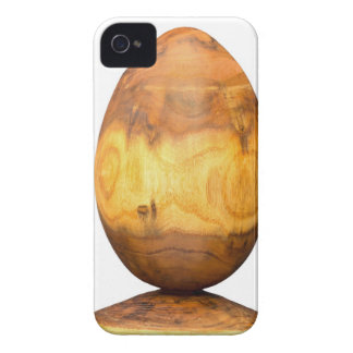 Wooden egg made of acacia tree with bark. Case-Mate iPhone 4 case