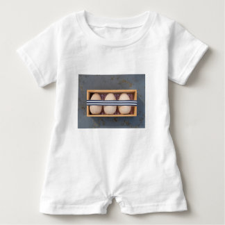 Wooden eggs in a box baby romper