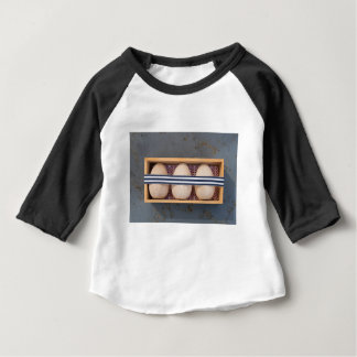 Wooden eggs in a box baby T-Shirt