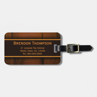 Wooden Faux Pine Wood Travel Custom Luggage Tags