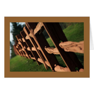 Wooden Fence Card