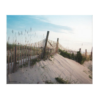 Wooden Fence in the Sand Canvas Print