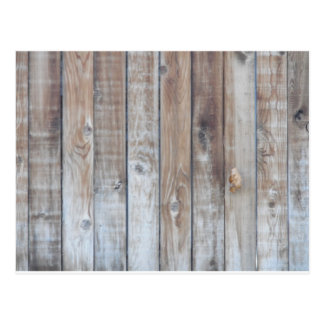 Wooden Fence Postcard