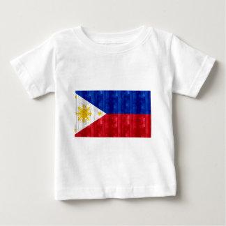Wooden Filipino Flag Baby T-Shirt