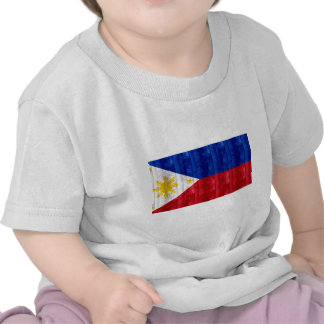 Wooden Filipino Flag T Shirts