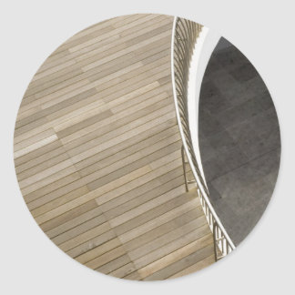 Wooden flooring classic round sticker