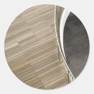 Wooden flooring round sticker