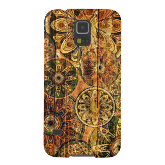 wooden floral abstract vector art galaxy s5 covers