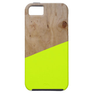 Wooden Fluorescent Yellow - Contemporary case iPhone 5 Case