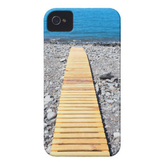 Wooden footpath on beach leading to portuguese sea iPhone 4 Case-Mate cases