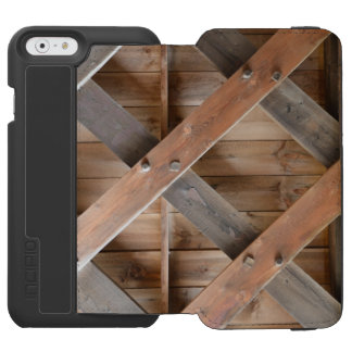 Wooden Frame Cell Phone Case Incipio Watson™ iPhone 6 Wallet Case