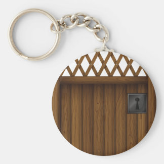 Wooden Gate Keychain