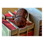 Wooden Gavel Business Cards