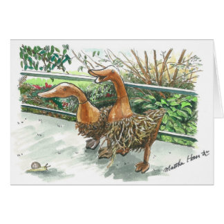 Wooden geese card