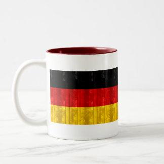 Wooden German Flag Two-Tone Mug