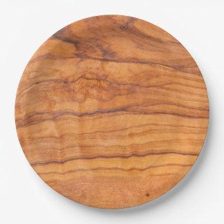 Wooden Grain 9 Inch Paper Plate