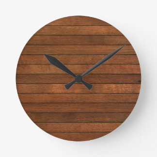 Wooden Grain Stained Style Wall Clocks