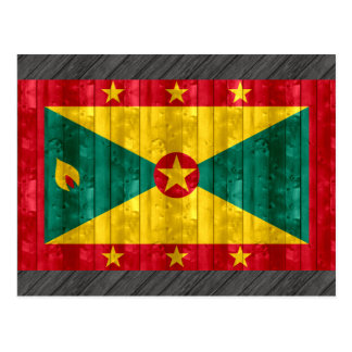 Wooden Grenadian Flag Postcard