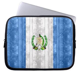 Wooden Guatemalan Flag Laptop Sleeve