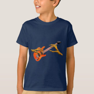 Wooden hands play electric guitar gift design T-Shirt
