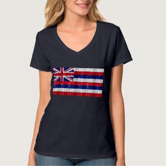 Wooden Hawaiian Flag T-Shirt