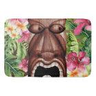 Wooden Hawaiian Tiki Luau Summer Tropical Bath Mat