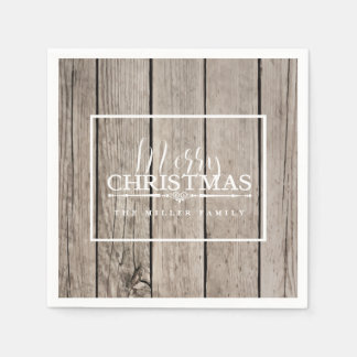 Wooden, Holiday Disposable Napkins