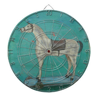 Wooden horse dartboard