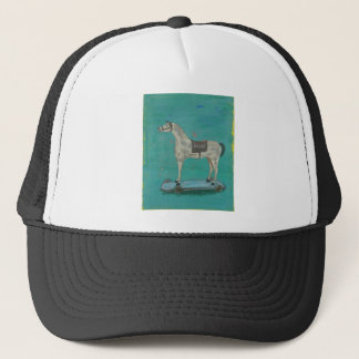 Wooden horse trucker hat