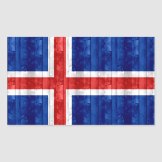 Wooden Icelander Flag Sticker