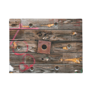 Wooden Industrial Wire Spool Doormat