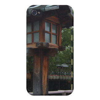 Wooden Japanese Shrine Lantern iPhone 4 Case
