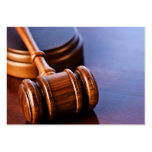 Wooden Judge's Gavel Large Business Card