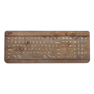 """""""Wooden"""" Keyboard with (or without) Initial(s)"""