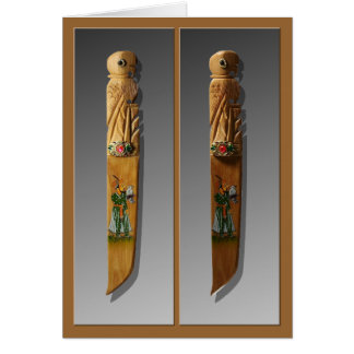 Wooden Knives Bookmark Card