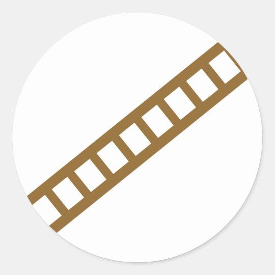 wooden ladder classic round sticker