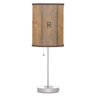 """""""Wooden"""" Lamp with (or without) your Initial(s)"""